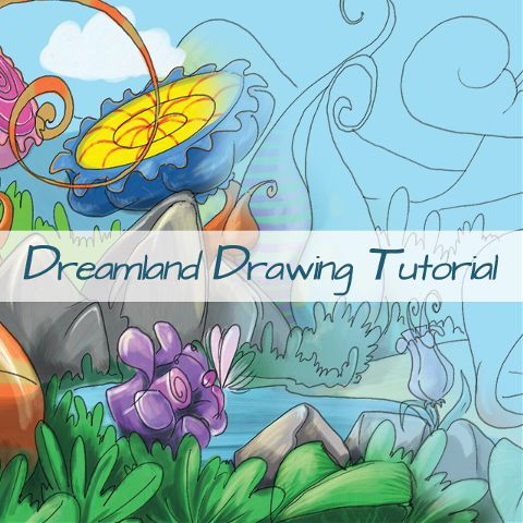 how to draw a dreamland step by step