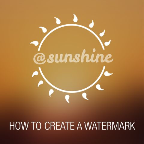 how to create a watermark with PicsArt