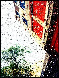 rain travel colorful summer retro
