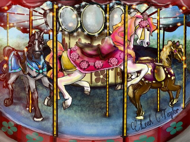 carousel drawing art contest