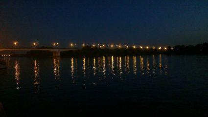 summer river photography lights night