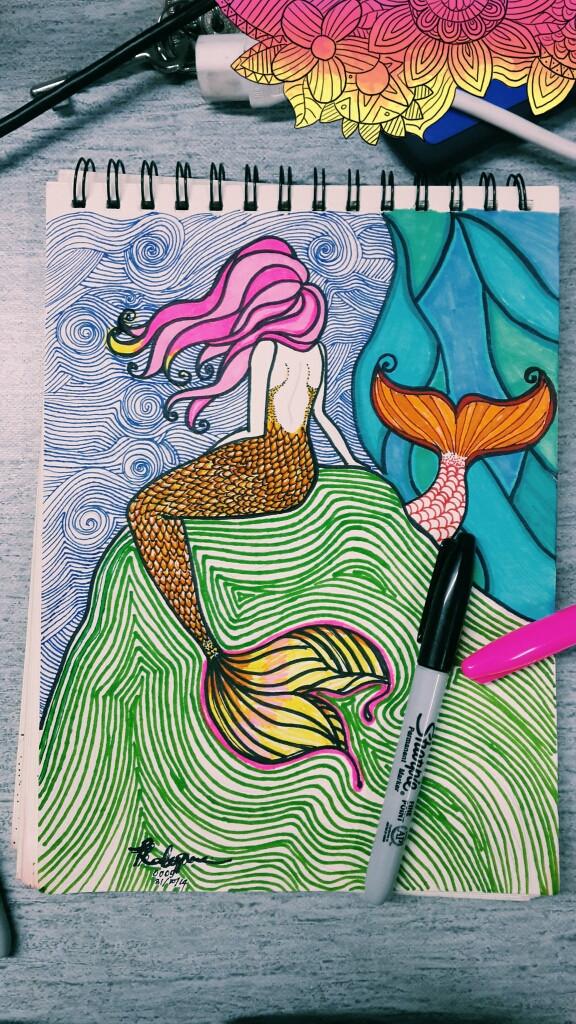 #mermaid doodle