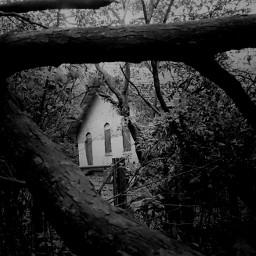 blackandwhite photography haunted villa