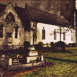 goodnight night church graveyard graves spooky places