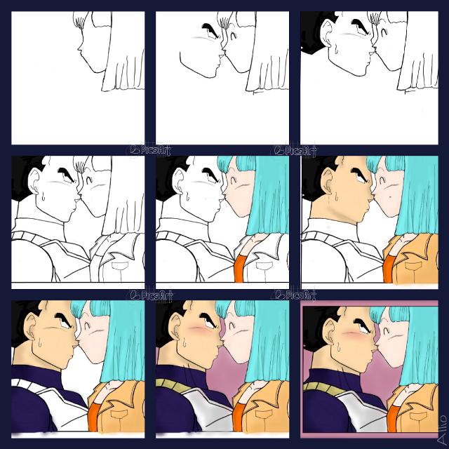kiss drawing steps