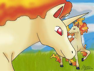 dcunicorn pokemon unicorn rapidash