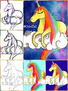 unicorn drawstepbystep drawing art